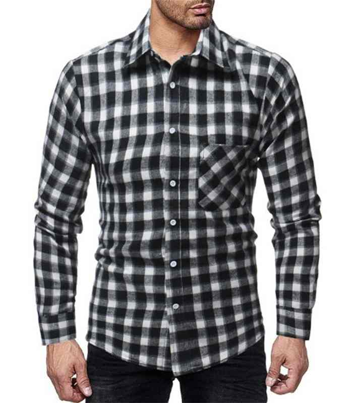 Wholesale Mens Black Flannel Plaid Shirt Manufacturer