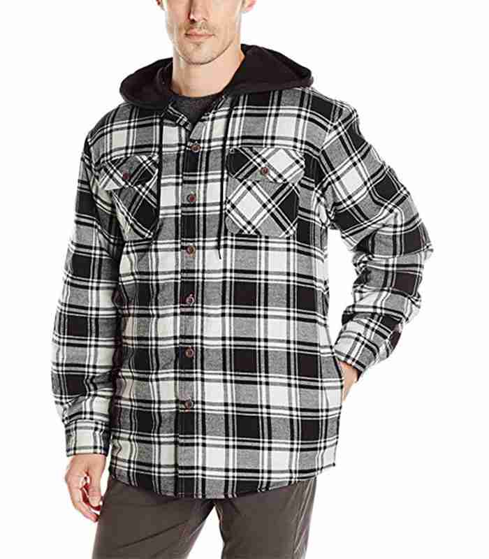 Wholesale Custom Hooded Mens Flannel Shirt Manufacturer