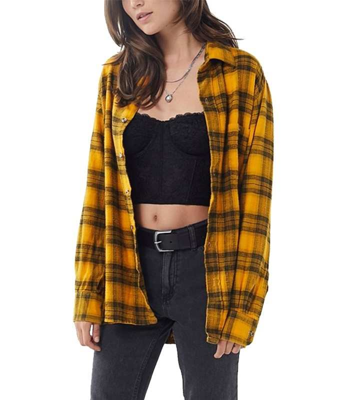Wholesale Yellow Custom Vintage Flannel Shirt Manufacturer