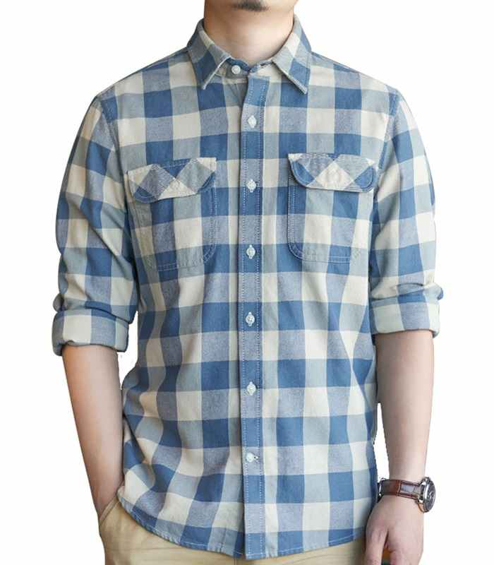 Wholesale Dual Pocket Mens Flannel Shirt Manufacturer