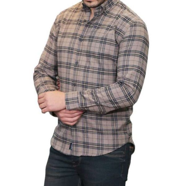 Wholesale Light Brown Cotton Flannel Shirt Manufacturer