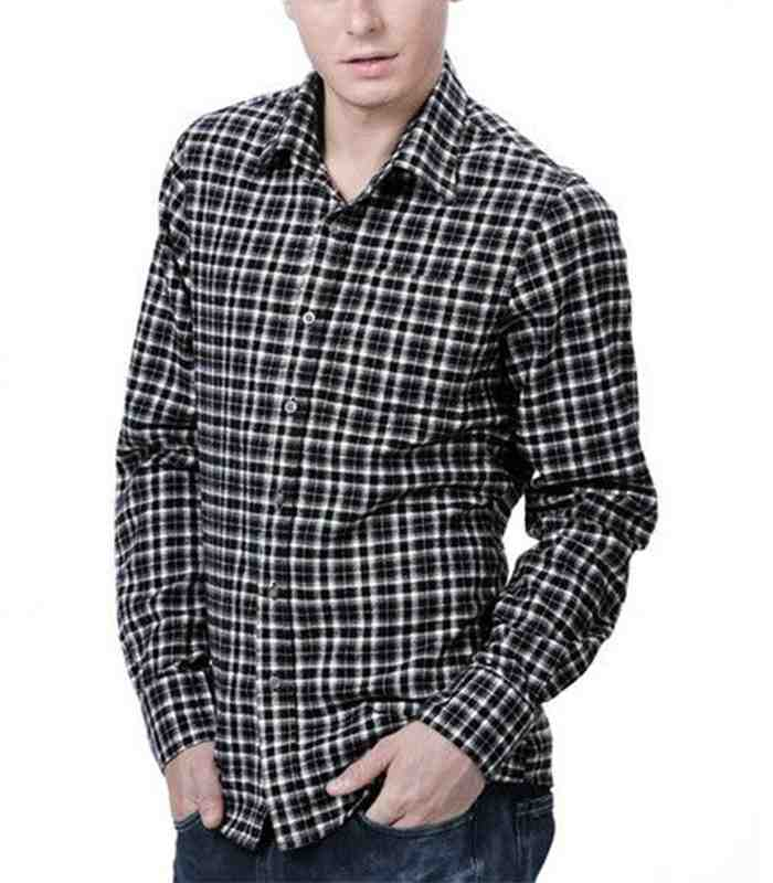 Wholesale Long Sleeve Plaid Flannel Shirt Manufacturer