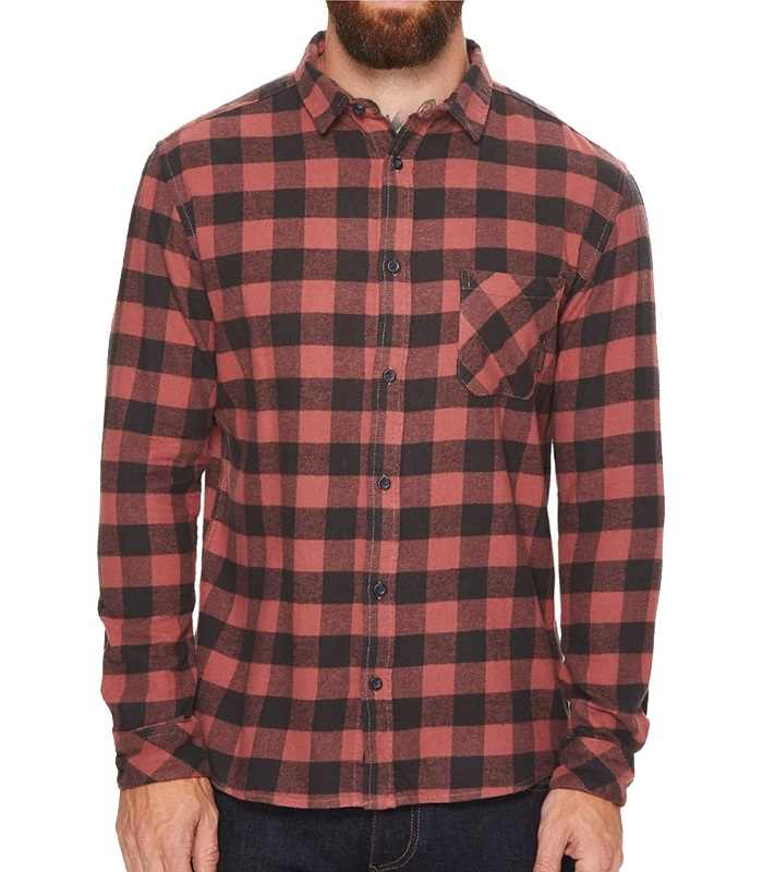 Wholesale Red and Black Cotton Flannel Shirt Manufacturer