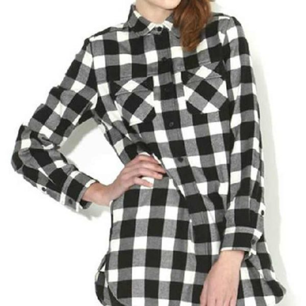 Wholesale Womens Cheap Flannel Shirt With Pockets Manufacturer