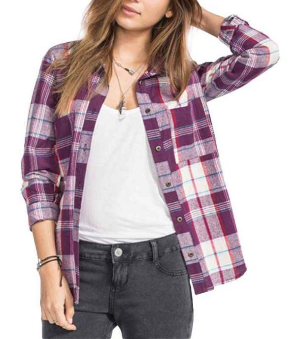 Wholesale Marmalade Lady Long Sleeve Flannel Shirt Manufacturer