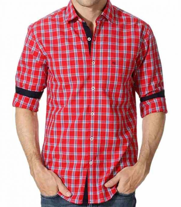 Wholesale Red Cotton Flannel Shirt Manufacturer
